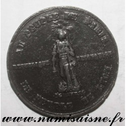 MEDAL - POLITICS - 69 - TO THE PEOPLE OF PARIS - THE PEOPLE OF LYON - 1848