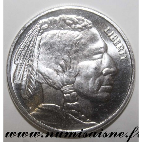 UNITED STATES - ONE TROY OUNCE 0.9999 FINE SILVER - INDIAN HEAD - AMERICAN BUFFALO