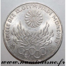 GERMANY - KM 135 - 10 MARK 1972 D - MUNICH OLYMPICS