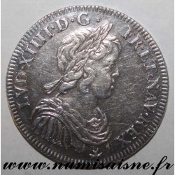 FRANCE - Gad 168 - LOUIS XIV - 1/2 ECU WITH SHORT HAIR 1643 A - Paris - Rose