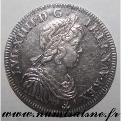 FRANCE - Gad 168 - LOUIS XIV - 1/2 ECU WITH SHORT HAIR 1643 A - Paris - Rose