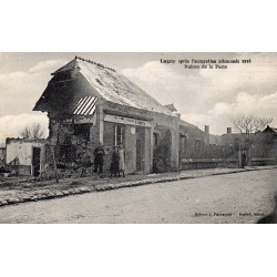 County 60310 - OISE - LAGNY - AFTER THE GERMAN OCCUPATION 1918 - RUINS OF THE POST OFFICE