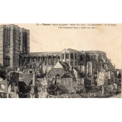 County 60400 - OISE - NOYON - CATHEDRAL AFTER THE WAR