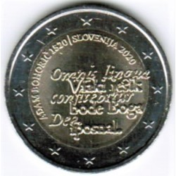 SLOVENIA - 2 EURO 2020 - 500 YEARS OF THE BIRTH OF ADAM BOHORIC