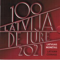 LATVIA - 5.88€ MINTSET 2021 - UNC in Blistercard - 9 coins