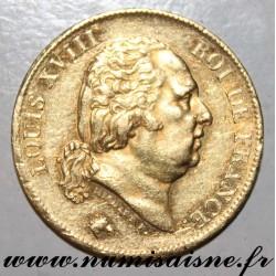 GADOURY 1092 - 40 FRANCS 1816 A - Paris - OR - TYPE LOUIS PHILIPPE Ier - KM 713