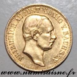 ALLEMAGNE - KM 1264 - 10 MARK 1907 E - Saxe - OR