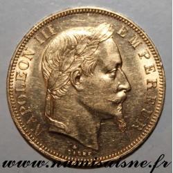 FRANCE - KM 804 - 50 FRANCS 1864 A - Paris - GOLD - NAPOLÉON III