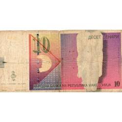 MACEDOINE - PICK 14 a - 10 DENARI - 08/09/1996