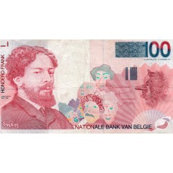 BELGIEN - PICK 147 - 100 FRANCS (1995-2001)