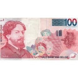 BELGIUM - PICK 147 - 100 FRANCS (1995-2001)