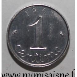 GADOURY 91 - 1 CENTIME 1961 - TYPE EPI - ESSAI - PIÉFORT - KM 928