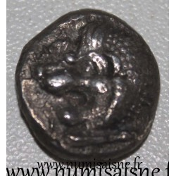 ANTIKE GRIECHENLAND - HEKATOMNOS SATRAPES (GOVERNOR) OF KARIEN - 395 - 377 BC - SILBER DRACHMA - lion head