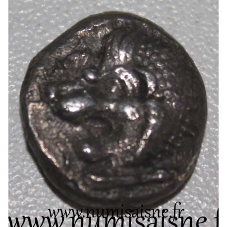 ANCIENT GREECE - HEKATOMNOS SATRAPES (GOVERNOR) OF CARIA - 395 - 377 BC - SILVER DRACHMA - Lion's Head