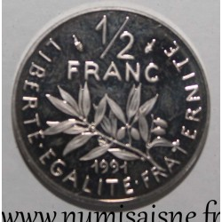 FRANCE - KM 931 - 1/2 FRANC 1991 - TYPE SOWER