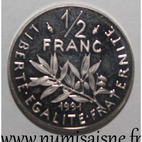 FRANCE - KM 931 - 1/2 FRANC 1991 - TYPE SOWER
