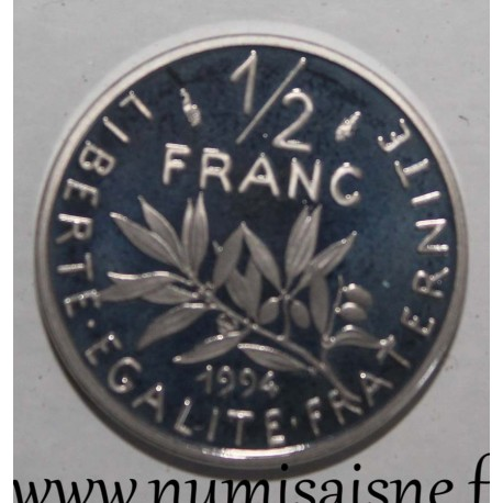 FRANCE - KM 931.1 - 1/2 FRANC 1994 - TYPE SOWER - Dolphin