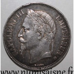 FRANCE - KM 799 - 5 FRANCS 1868 BB - Strasbourg - TYPE NAPOLÉON III