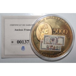 MEDAL - BANKNOTE OF 5.000 FRANCS VICTOIRE - 2009