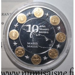 MEDAL - 10 YEARS OF THE EURO - MALTA - 2008