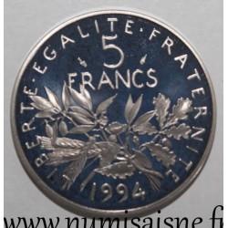 FRANCE - KM926a.2 - 5 FRANCS 1994 - TYPE SOWER