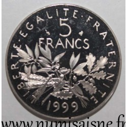 FRANCE - KM 926a.2 - 5 FRANCS 1999 - TYPE SOWER