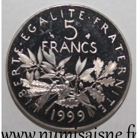 FRANCE - KM 926a.2 - 5 FRANCS 1999 - TYPE SOWER
