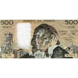FRANCE - PICK 156 - 500 FRANCS PASCAL - 07/01/1982 - Y.155