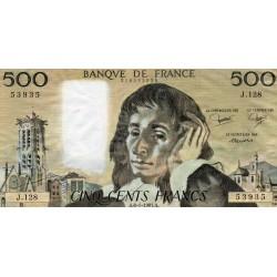 FRANCE - PICK 156 - 500 FRANCS PASCAL - 08/01/1981 - J.128