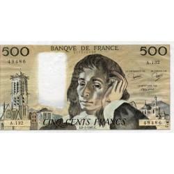 FRANCE - PICK 156 - 500 FRANCS PASCAL - 08/01/1981 - A.132