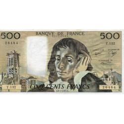 FRANCE - PICK 156 - 500 FRANCS PASCAL - 08/01/1981 - T.132