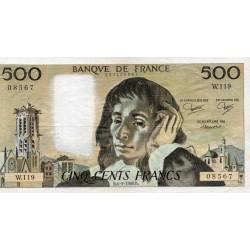 FRANCE - PICK 156 - 500 FRANCS PASCAL - 04/09/1980 - W.119