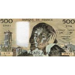 FRANCE - PICK 156 - 500 FRANCS PASCAL - 04/09/1980 - Q.119