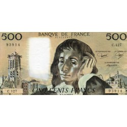 FRANCE - PICK 156 - 500 FRANCS PASCAL - 04/09/1980 - C.127