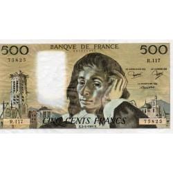 FRANCE - PICK 156 - 500 FRANCS PASCAL - 04/09/1980 - R.117
