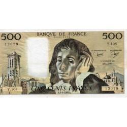 FRANCE - PICK 156 - 500 FRANCS PASCAL - 04/09/1980 - Y.108
