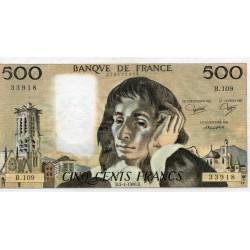 FRANCE - PICK 156 - 500 FRANCS PASCAL - 04/09/1980 - B.109