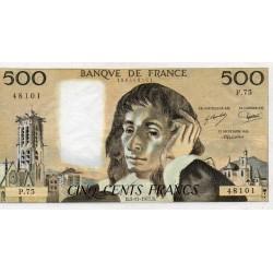 FRANCE - PICK 156 - 500 FRANCS PASCAL - 03/11/1977 - P.75