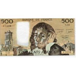 FRANCE - PICK 156 - 500 FRANCS PASCAL - 03/11/1977 - P.83