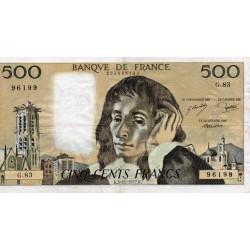 FRANCE - PICK 156 - 500 FRANCS PASCAL - 03/11/1977 - G.83