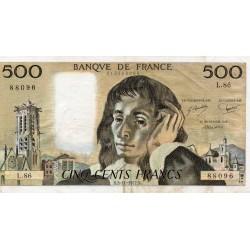 FRANCE - PICK 156 - 500 FRANCS PASCAL - 03/11/1977 - L.86