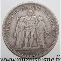 FRANCE - KM 756 - 5 FRANCS 1848 BB - Strasbourg - TYPE HERCULE