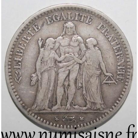 FRANCE - KM 756 - 5 FRANCS 1848 BB - Strasbourg - TYPE HERCULE