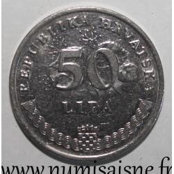 CROATIA - KM 8 - 50 LIPA 1993 - VELEBITSKA DEGENIJA