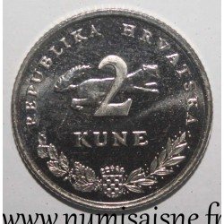 CROATIA - KM 10 - 2 KUNE 2005 - RED TUNA