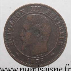FRANCE - KM 776 - 2 CENTIMES 1855 B - Rouen - NAPOLEON III - Dog
