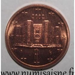 ITALY - KM 210 - 1 EURO CENT 2002 - CASTEL DEL MONTE