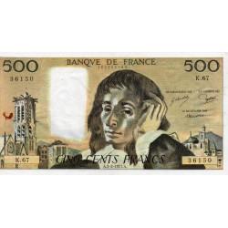FRANCE - PICK 156 - 500 FRANCS PASCAL - 03/02/1977 - K.67