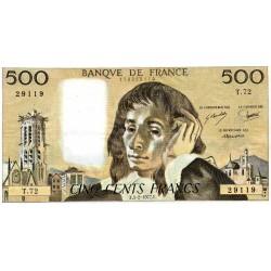 FRANCE - PICK 156 - 500 FRANCS PASCAL - 03/02/1977 - T.72