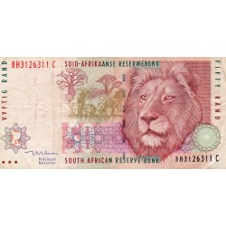 SOUTH AFRICA - PICK 125 c - 50 RAND - ND 1999 - LION